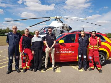 £1000 Raised for the Essex and Herts Air Ambulance